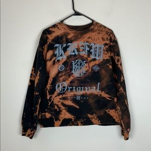 Custom Dyed Kr3w Crewneck Sweater Small